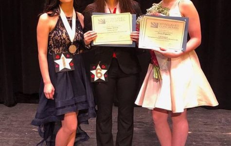 First place winner Susan Lenard (center) poses with runner-up Brooklyn Climer (left) and third place winner Jenna Engberts (right). Photo courtesy Distinguished Young Women of Wayne-Westland.