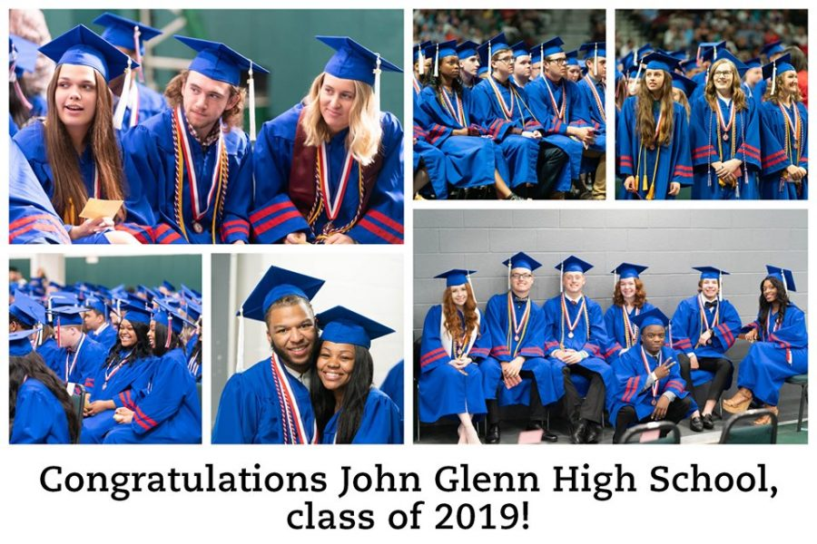 Scenes from the 2019 graduation ceremony. Photo collage from the JGHS Facebook page.