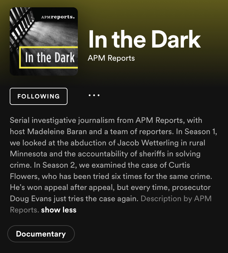 In The Dark; A podcast about a corrupt city court